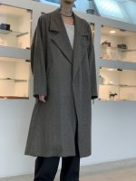 my beautiful landlet / flannel wool wide long coat / Gray