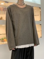 my beautiful landlet / flannel wool pullover / Gray
