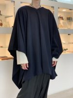 TROVE / VIITTA PONCHO ( WEARABLE )  / NAVY BLACK
