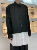 WIZZARD / LAYERED SHIRTS / BLACK×WHITE