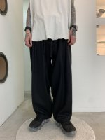 my beautiful landlet / flannel wool wide easy pants / Black
