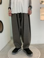 my beautiful landlet / flannel wool wide easy pants / Gray