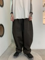 my beautiful landlet / bouble cloth wide easy pants / Brown