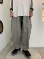 my beautiful landlet / bouble cloth wide easy pants / Gray