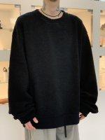 my beautiful landlet / sheep pile sweatshirt / Black