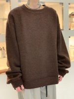my beautiful landlet / sheep pile sweatshirt / Brown