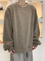 my beautiful landlet / sheep pile sweatshirt / Beige