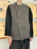 TROVE / LUU VEST ( MERINO TWEED )  / MIX BROWN