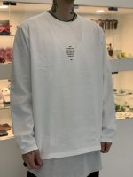 SUSPEREAL / roosters cutsew long sleeve / White