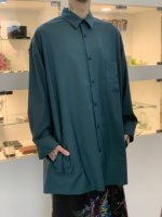 SUSPEREAL / Rayon long sleeve shirts / Navy Green