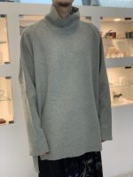 VOAAOV / compressed wool jersey high-necked / Green