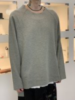 VOAAOV / compressed wool jersey switching sweat / Green