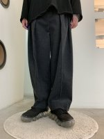VOAAOV / washing corduroy wide pants / Charcoal
