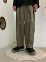 VOAAOV / washing corduroy wide pants / Gray
