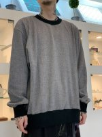 VICTIM / TWEED SWEAT / BEIGE×GRAY
