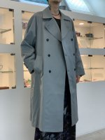 SUSPEREAL / Trench coat jacket / Mint Blue