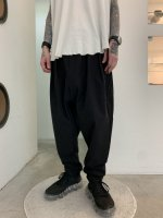 rehacer / Cord Sarouel Tapered Pants / Black