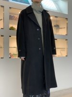 VICTIM / WOOL BIG COAT / BLACK