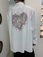 【予約商品】REVIVAL 90% PRODUCTS / JUNKIE HEART BOWLING SHIRTS LONG SLEEVE / 3月発売予定 / 20年 11/18 〆切