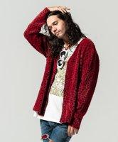 【予約商品】glamb / Leopard feather cardigan / 2月下旬発売予定 / 21年 1/11 〆切 ※数量限定(先着順)