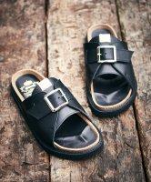 【予約商品】glamb / Buckle leather sandals / 4月下旬発売予定 / 21年 1/11 〆切