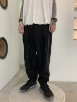 rehacer / Zippers Volume Tuck Pants / Black