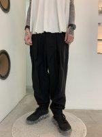 rehacer / Zippers Volume Tuck Pants / Black
