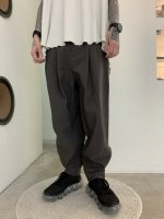 rehacer / Zippers Volume Tuck Pants / Smoky Gray