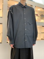 VOAAOV / SOFT SEAMER BIG SHIRT / Navy