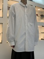 VOAAOV / SOFT SEAMER BIG SHIRT / Stripe