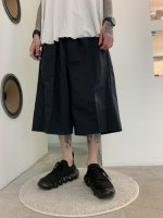VOAAOV / SUSTAINABLE NYLON HALF PANTS / Black