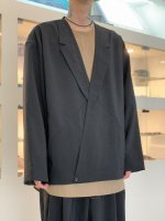 VOAAOV / NATURAL WATER REPELLENT JACKET CARDIGAN / Black