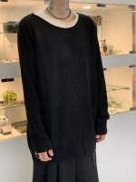 glamb / Fake layered knit / Black