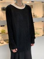 glamb / Fake layered knit / Black