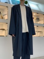 VOAAOV / WASHABLE WOOL JACKET COAT / Navy