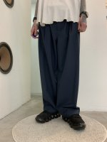 VOAAOV / WASHABLE WOOL WIDE PANTS / Navy
