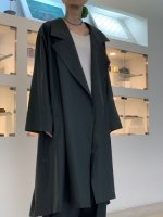 my beautiful landlet / COTTON LYOCEL&LINEN CANVAS LONG COAT / Black