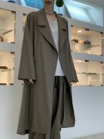 my beautiful landlet / COTTON LYOCEL&LINEN CANVAS LONG COAT / Brown