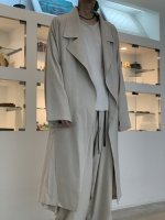 my beautiful landlet / COTTON LYOCEL&LINEN CANVAS LONG COAT / Beige