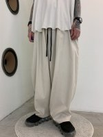 my beautiful landlet / COTTON LYOCEL&LINEN CANVAS BACKWARP WIDE EASY PANTS / Beige