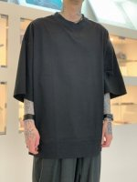 VOAAOV / COTTON JERSEY BIG TEE / Black