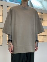 VOAAOV / COTTON JERSEY BIG TEE / Beige
