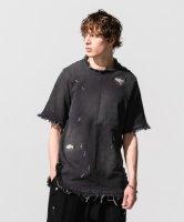 【予約商品】glamb / Damaged denim pullover SH / 6月下旬発売予定 / 21年 3/14 〆切