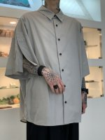 my beautiful landlet / LOOSE DRESS SHORT SLEEVE SHIRT / Light Gray
