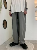 my beautiful landlet / TECH WOOL BACKWARP WIDE EASY PANTS / Gray