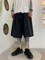 my beautiful landlet / TECHNO BACK WARP HALF PANTS / Black