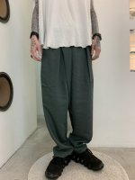 TROVE / HOUI WRAP PANTS / MOSS GREEN