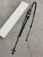 LAD MUSICIAN / SAFETY PIN CROSS NECKLACE 2 / BLACK
