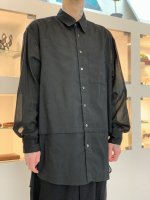 WIZZARD / TRANSPARENT LAYERED SHIRTS / BLACK
