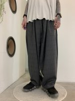 my beautiful landlet / WOOL CHECK BACK WARP WIDE EASY PANTS / Check